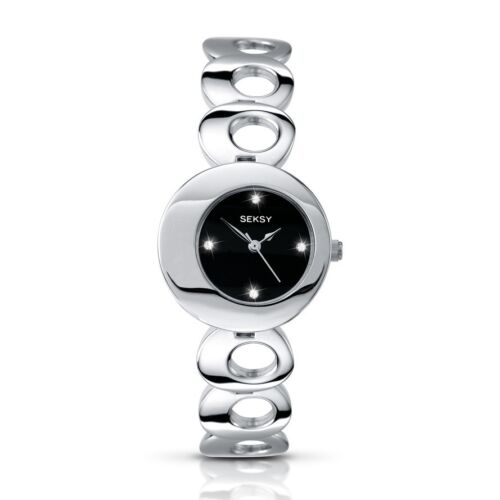 Seksy Twilight by Sekonda Black Dial Stainless Steel Bracelet Ladies Watch 4800