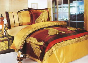 edle bettw sche maco satin 3tlg 160x200cm design gepard ebay. Black Bedroom Furniture Sets. Home Design Ideas