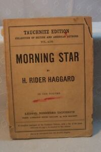 ANTIQUE-OLD-BOOK-MORNING-STAR-H-RIDER-HAGGARD-TAUCHNITZ