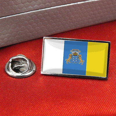 Canary Islands Flag Lapel Pin Badge / Tie Pin