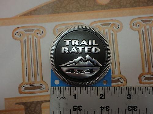 Jeep Wrangler Trail Bewertet Rund Metall Emblem Typenschild Oem Mopar Neu