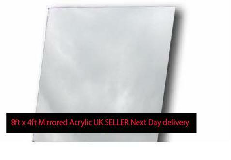 PERSPEX 8ft x 4ft MIRROR MIRRORED Large Acrylic Sheet for Home Gym