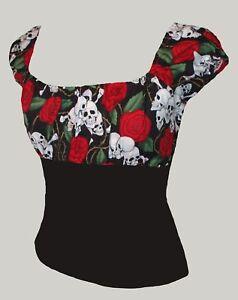Roses Pin 20 Top Rockabilly Uk 8 Tatuaggio Skulls Gypsy up 5SxZw5O6q