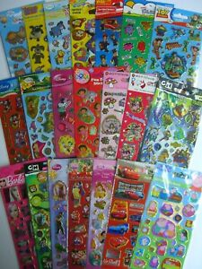 CHARACTER-amp-DISNEY-FUN-FOILED-STICKERS-Range-of-30-Designs
