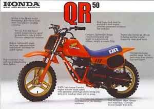 1984 HONDA QR50FD 2 page Motorcycle Brochure NCS