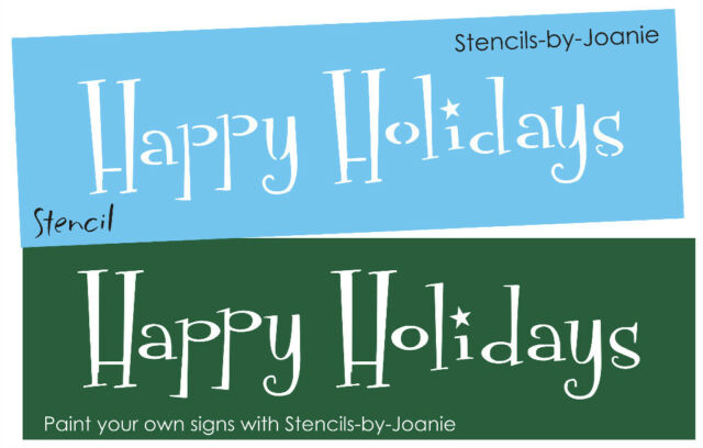 Whimsey Christmas STENCIL Happy Holidays Country Prim Art Craft Signs You Paint