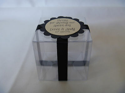100 x clear wedding Favour / Bomboniere Box 5cm