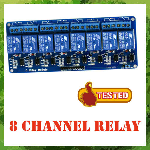 8 Channel DC 5V Relay Module for Arduino PIC ARM DSP AVR MSP430 TTL Logic