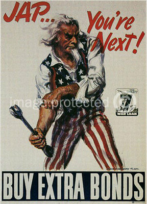 Uncle Sam Youre Next WWii USA Military Vintage Poster