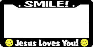image is loading smile jesus loves you christian license plate frame