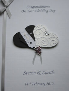 Personalised Wedding Congratulations Card Son Daughter Friend