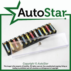 12 way continental fuse box 12v ceramic torpedo classic car 6 12 v image is loading 12 way continental fuse box 12v ceramic torpedo
