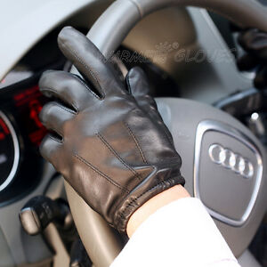 Brand-Warmen-real-lambskin-leather-Gloves-for-men-w-three-lines-at-back-M017PQ