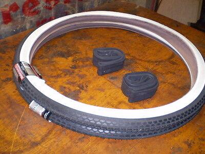 26x2x1 3/4  Wider Profile WW Bicycle Tire Set Fits Schwinn S-7 Rims