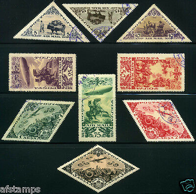 *Tannu Tuva. 13th issue. Year 1936. Sc. C10-8. 2nd airmail set. CTO. SCV $30+.