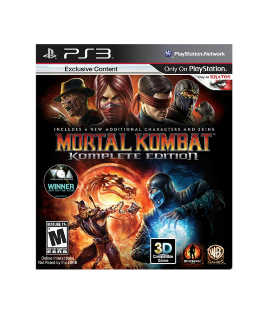 Mortal Kombat -- Complete Edition (Sony PlayStation 3, 2012)