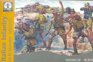 WATERLOO-1815-AP016-WW2-Italian-Infantry-1942-3-1-32-SCALE-54MM-WWII-ITALIANS