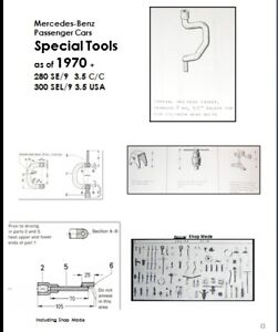 Mercedes special tools list manual w108 w109 w111 w112 for Mercedes benz special tools