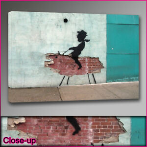 Banksy-kid-cowboy-wall-canvas-print-A1-24x36-Art