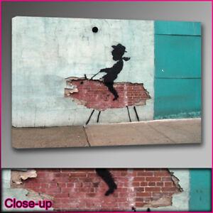 Banksy-kid-cowboy-wall-canvas-print-A1-24x36-Art