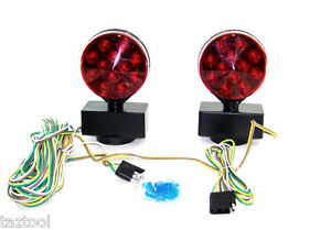 MagneticTow Light kit towing Trailer light kit LED Brake Tail Signal LED 12V