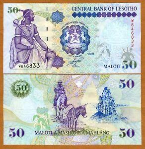 Lesotho-50-Maloti-2009-King-Moshoeshoe-P-17e-UNC