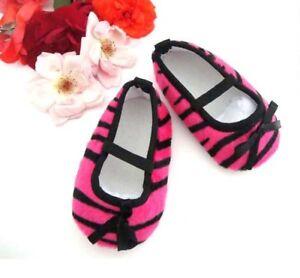 Baby & Girl Hot Pink Zebra Print cuna/cochecito de niño zapatos talla guía en listado