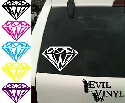 Diamond Decal Car Window Vinyl Jewel Bling Love Pretty Laptop Sticker ANY SIZE