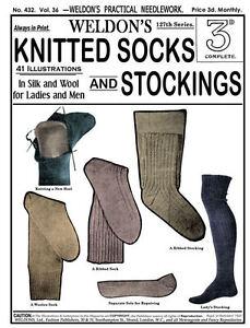 Weldons-2D-432-c-1920-Vintage-Knitting-Patterns-for-Socks-Stockings