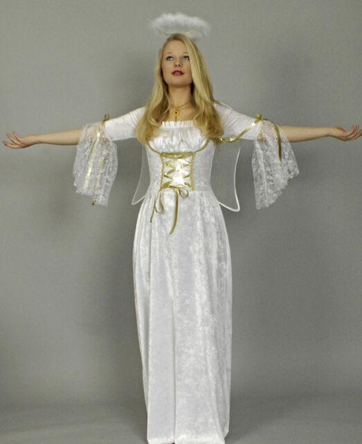 Kostüm Engel 1tlg Spitze 36 38 40 42 44 46 Engelskostüm Krippenspiel Christkind