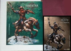 Nocturna-NM-HL12-The-Invader-54mm-Mounted-Barbarian-Warrior-Miniature-NIB
