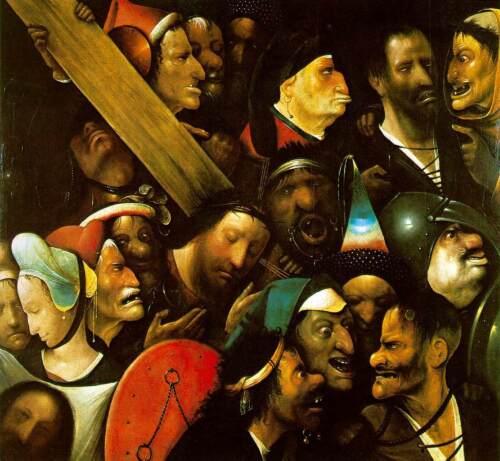 HIERONYMUS BOSCH CHRIST CARRYING THE CROSS RENAISSANCE GICLEE  PRINT FINE CANVAS