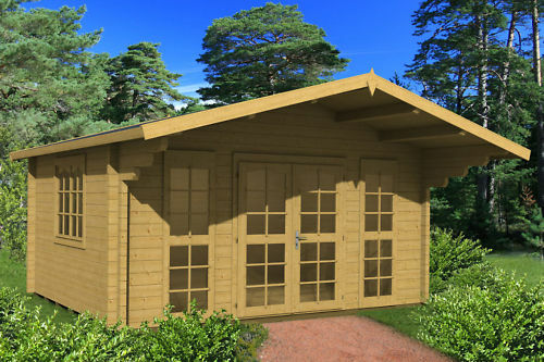 gartenhaus augsburg 1 ferienhaus blockhaus holzhaus ca 470x380 cm 70 mm ebay. Black Bedroom Furniture Sets. Home Design Ideas