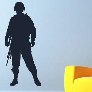 Soldier-Wall-Sticker-Decal-Art-Transfer-Vinyl-Graphic-Stencils-Decor-bn17
