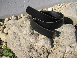 Wh-acoplamiento-Cinturon-de-cuero-Correas-Negro-100cm-Ejercito-WK2
