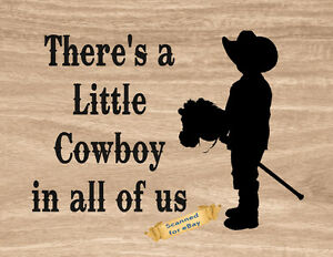 Western Cowboy Boots Child Stick Horse Wall Art Decor