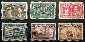 Canada-96-99-101-103-1908-Nice-Used-Lot-6-items