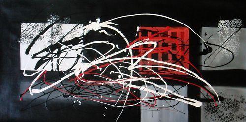 Modern art abstrait 40x16, pas une impression ou un poster.