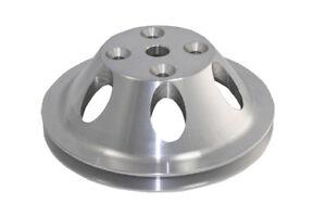 SB Chevy Billet Aluminum 1 Groove / Belt Long Water Pump Pulley 283 327 350 V-8