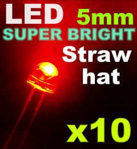 454-10-LED-5mm-Grand-angle-rouge-resistance-10pcs