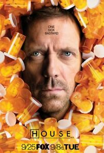 New-TV-Poster-Print-House-MD-Hugh-Laurie-BUY-1-GET-1-FREE-A3-A4
