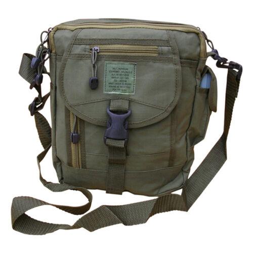 Army Surplus Military Canvas Combat Bag Utility Shoulder Travel Zip Bum Pouch
