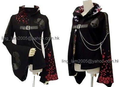 Visual Punk kimono skull pattern JACKET blazer RB S to M