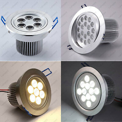 High Power LED Ceiling Light Fixture Spotlight Recessed Lamp Living Room Bedroom