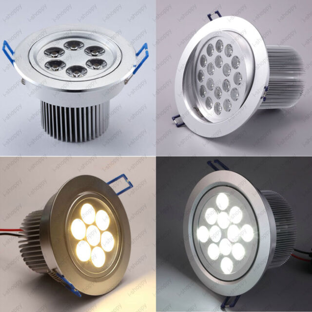 High Power LED Ceiling Light Fixture Spotlight Recessed Lamp Living Room Bedroom