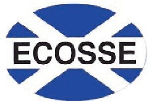 Scottish-Car-Bumper-Window-Oval-Sticker-Decal-Vinyl-Scotland-Saltire-Ecosse-Flag