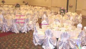 100 Universal Satin Chair Covers Wedding
