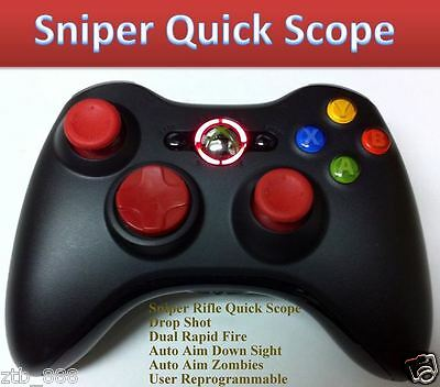 RAPID FIRE XBOX 360 MODDED CONTROLLER DROP SHOT RED NEW FOR ADVANCED WARFARE