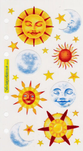 Sticko  Vellum  Stickers   *VELLUM SUNS & MOONS