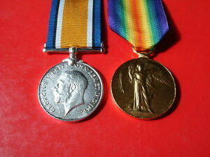 Medals-WW1-Victory-Medal-amp-British-War-Medal-Pair-Copy